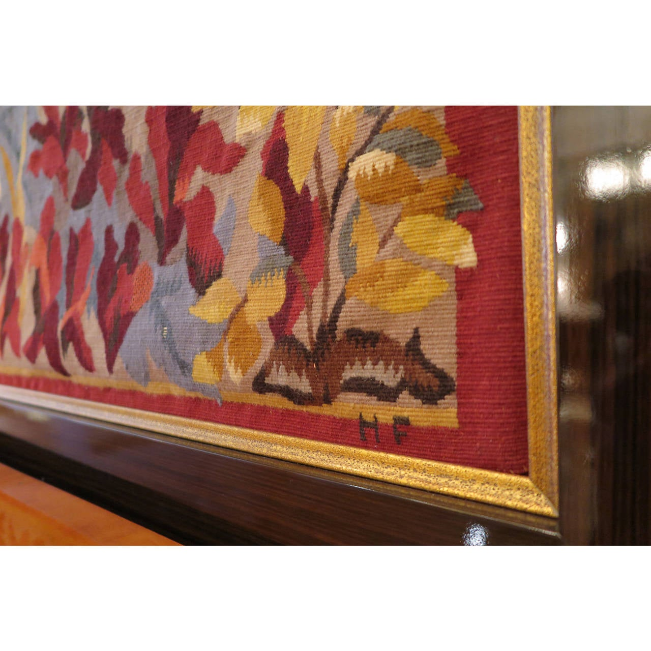 Art Deco Harvest Aubusson Tapestry by Dubreuil For Sale