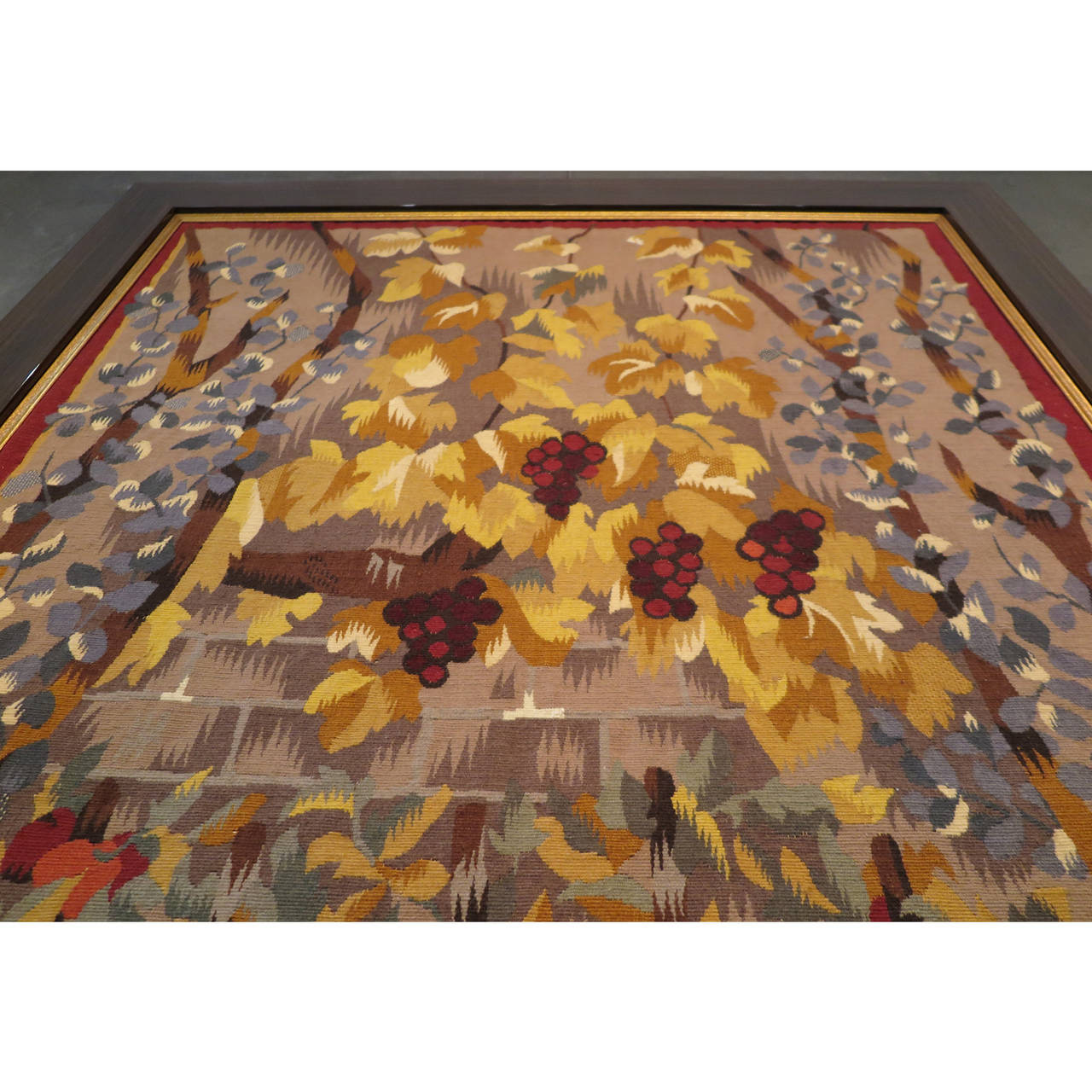 Harvest Aubusson Tapestry by Dubreuil In Excellent Condition For Sale In Los Angeles, CA