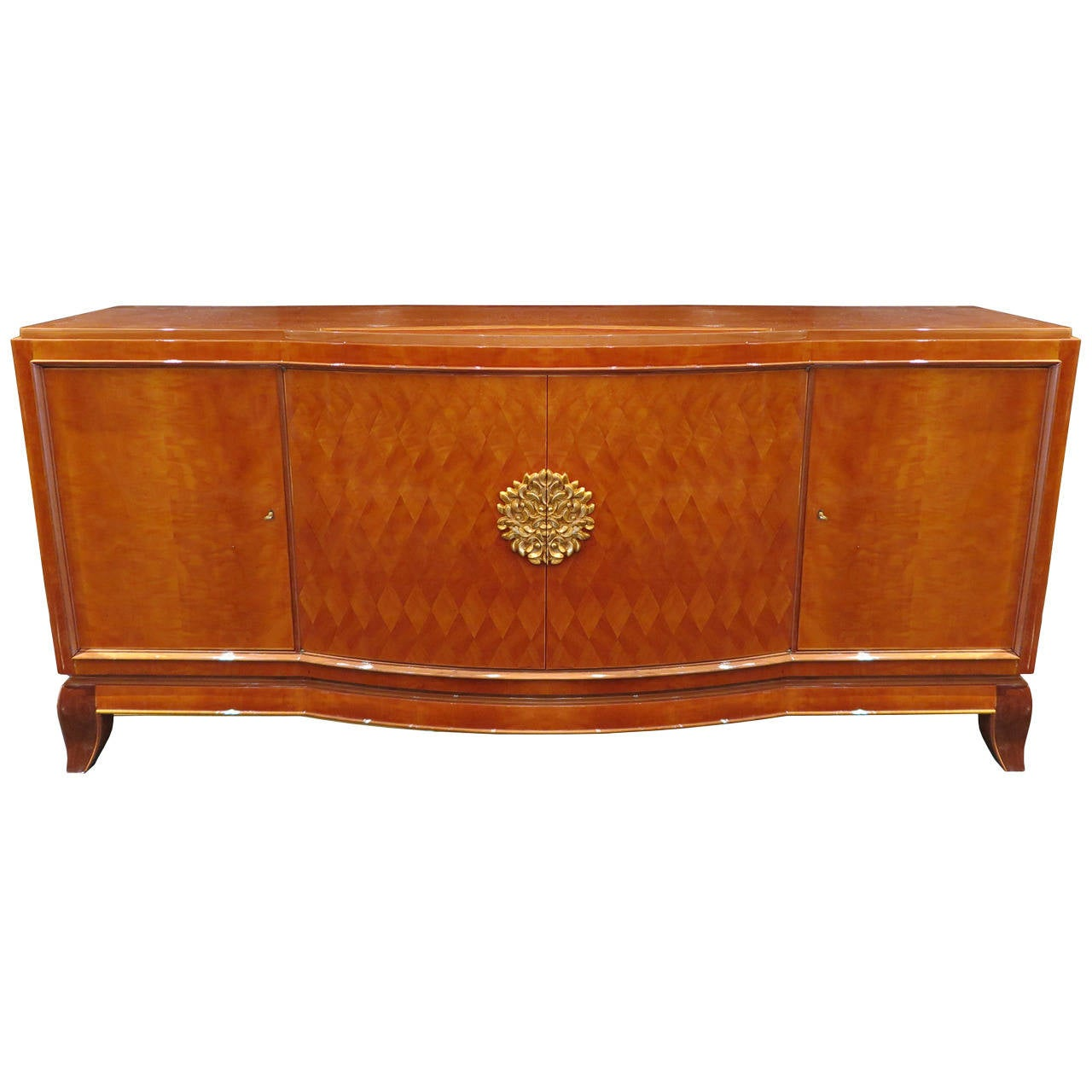 Sycamore Parquetry Sideboard by Jules Leleu and Goulet 1