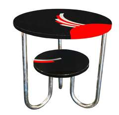 Bauhaus / Deco Side Table in Lacquer