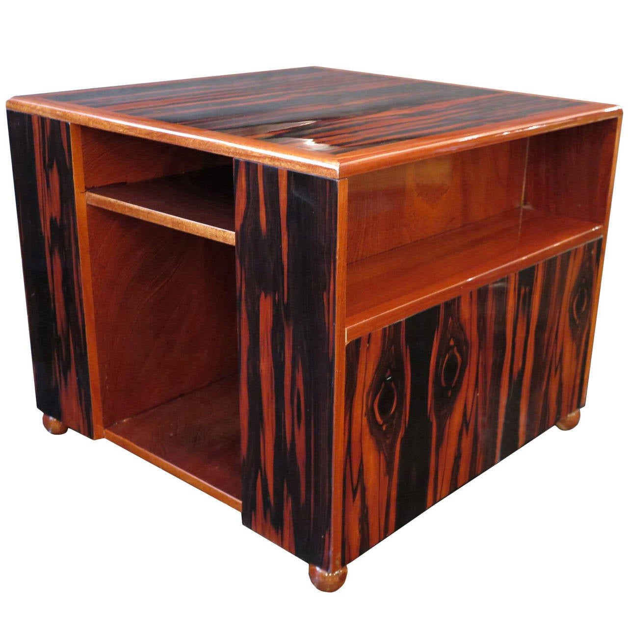 French Art Deco Macassar Ebony Table