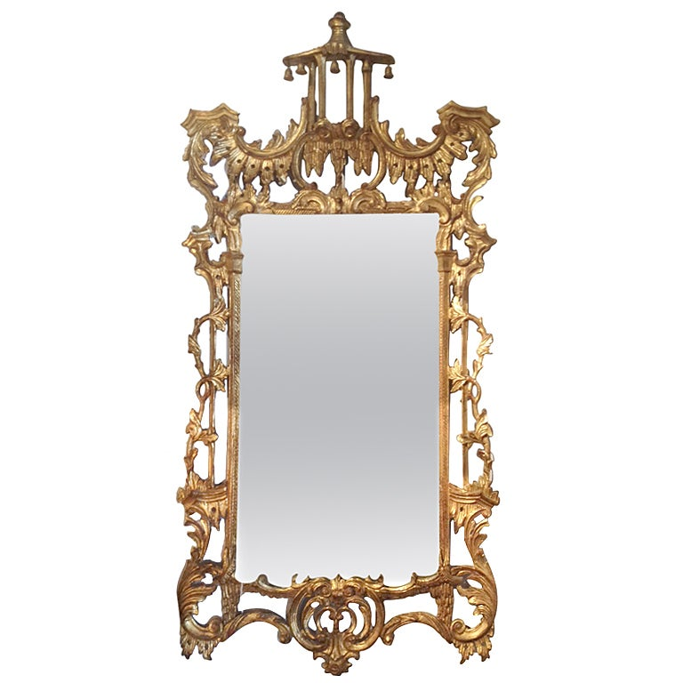 Chinese chippendale style mirror at 1stdibs for Asian style mirror