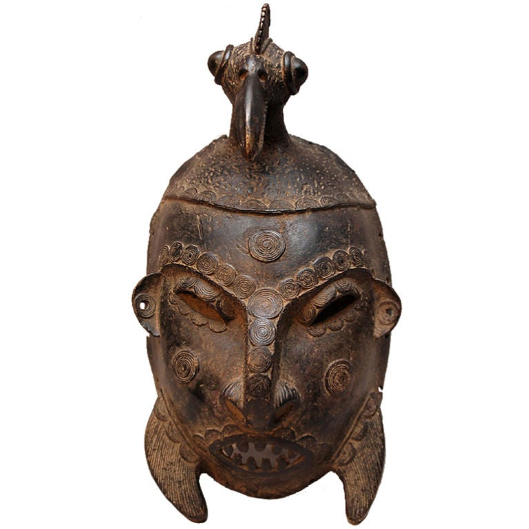 African Ancestral Bronze War Mask At 1stdibs