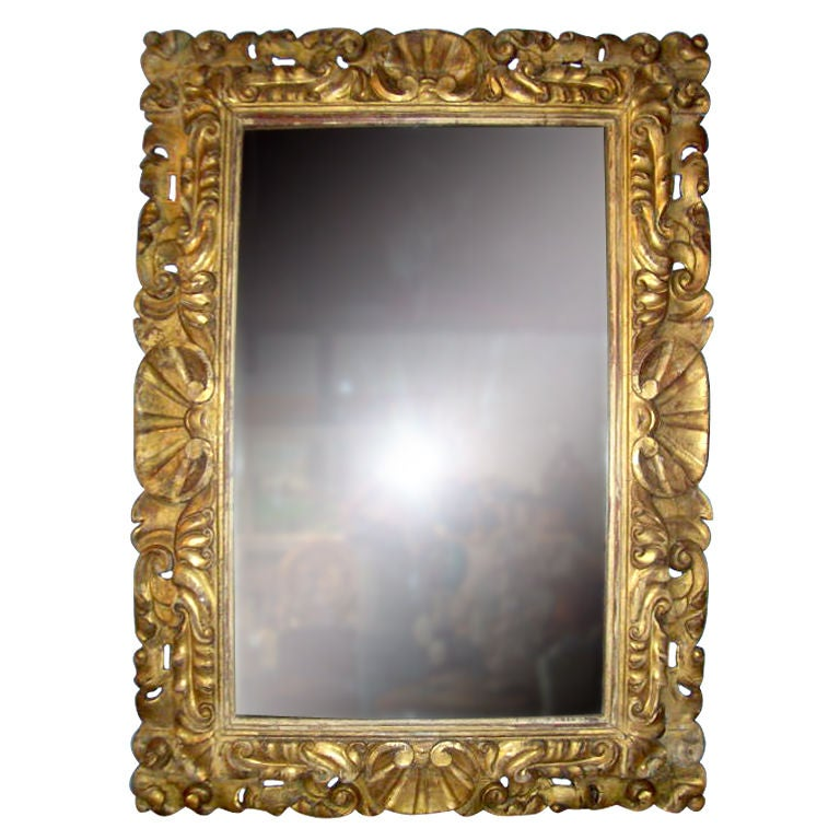 Massive 17th century frame with mirror at 1stdibs for 17th century mirrors