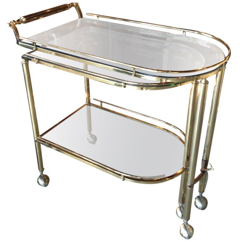 Brass Trolley Or Tea Cart At 1stdibs
