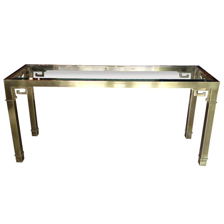Mastercraft Brass Console Table At 1stdibs