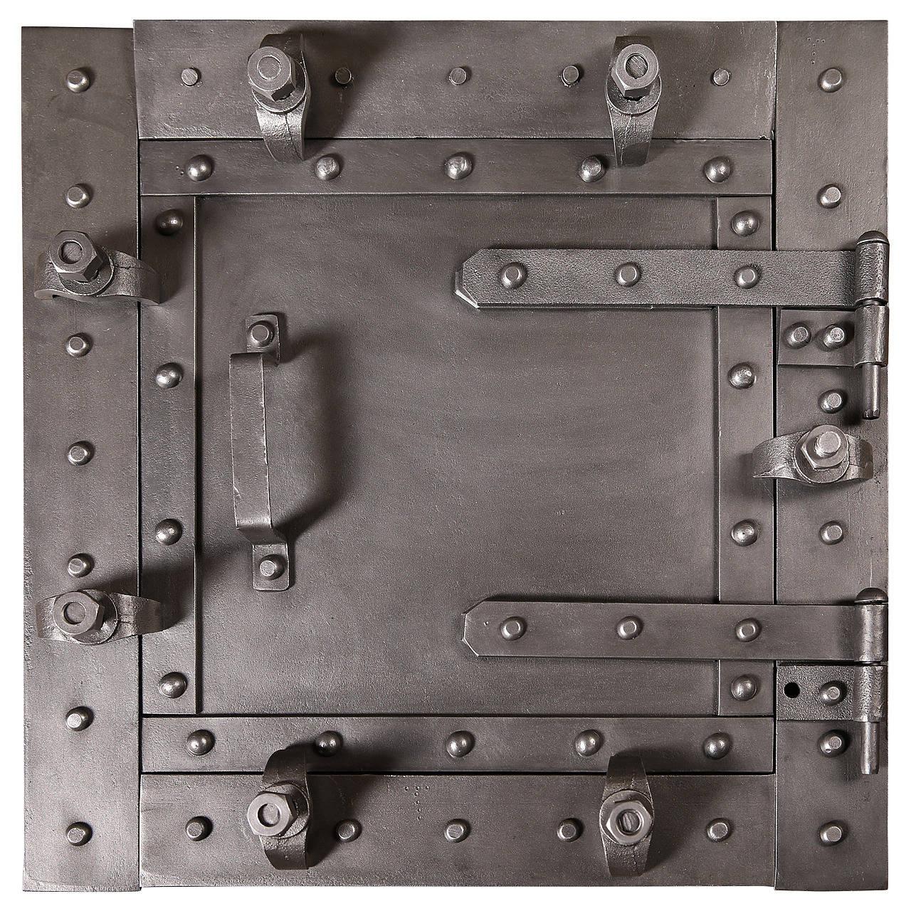 Vintage Industrial Doors For Sale : Furnace door vintage cast iron wood stove