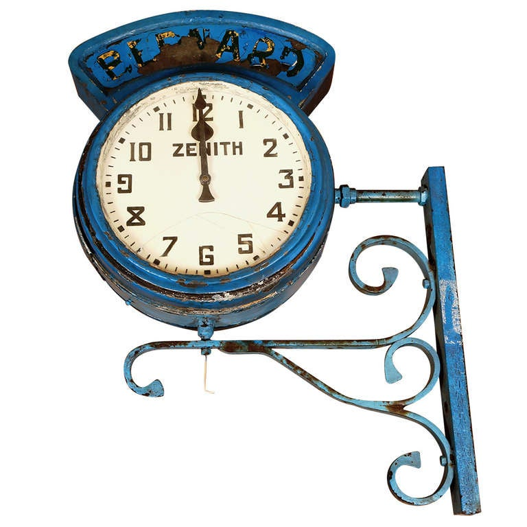 "Vintage Industrial, Illuminating Zenith Wall Clock ""Bernard"" 1"