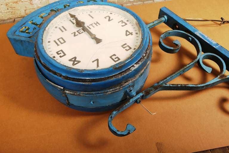 "Vintage Industrial, Illuminating Zenith Wall Clock ""Bernard"" image 5"