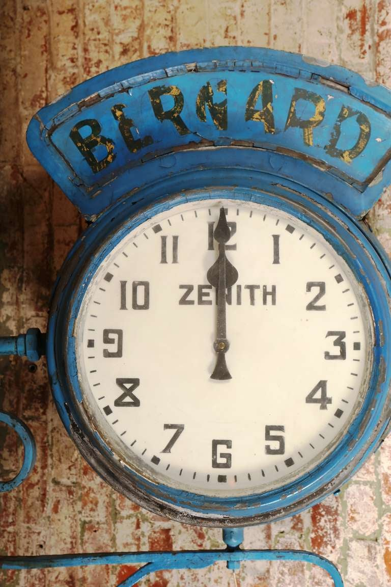 "Vintage Industrial, Illuminating Zenith Wall Clock ""Bernard"" 6"