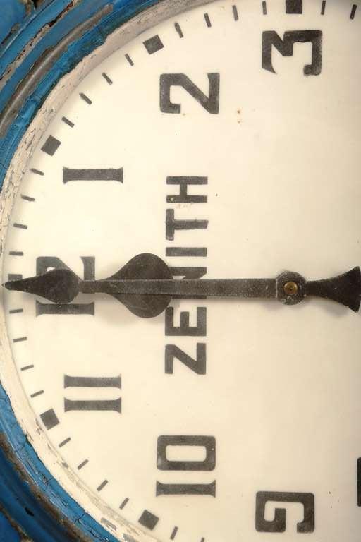 "Vintage Industrial, Illuminating Zenith Wall Clock ""Bernard"" image 8"