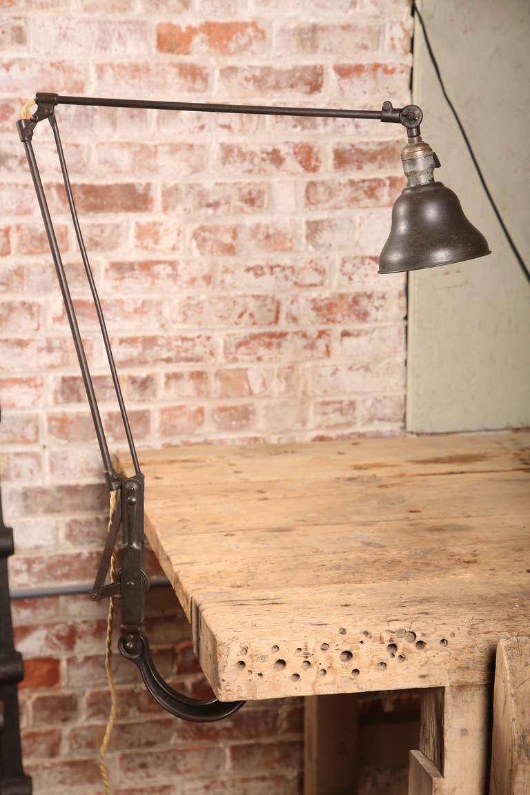 Vintage Industrial Dazor Adjustable Drafting Desk Table