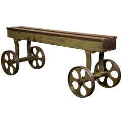 Vintage Industrial, Buss Machine Works Table/Cart