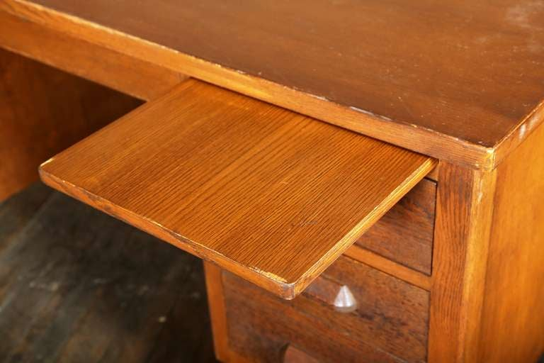 "Vintage Industrial Teachers Desk by ""Standard Furniture"