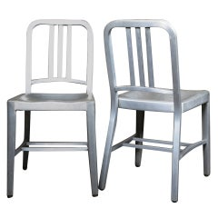 Vintage Industrial, Emeco Navy Chair Pair, Original & Made in USA