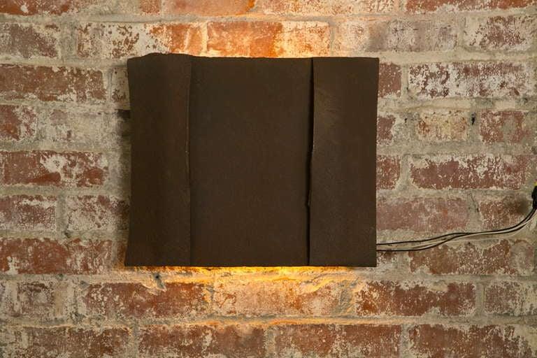 Sculptural Steel Wall Art Sconce Lamp, Light For Sale 2
