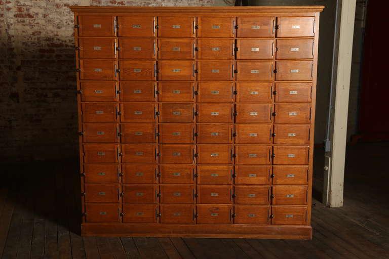Vintage Industrial Wood Storage Unit Or Multi Drawer