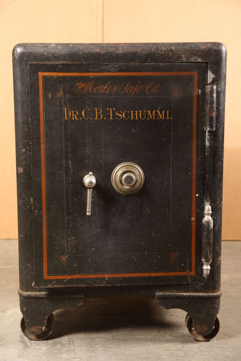Vintage Industrial Cast Iron Mosler Safe At 1stdibs