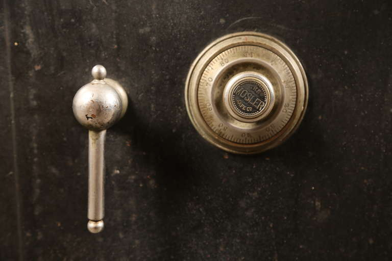 Vintage Industrial Cast Iron Mosler Safe