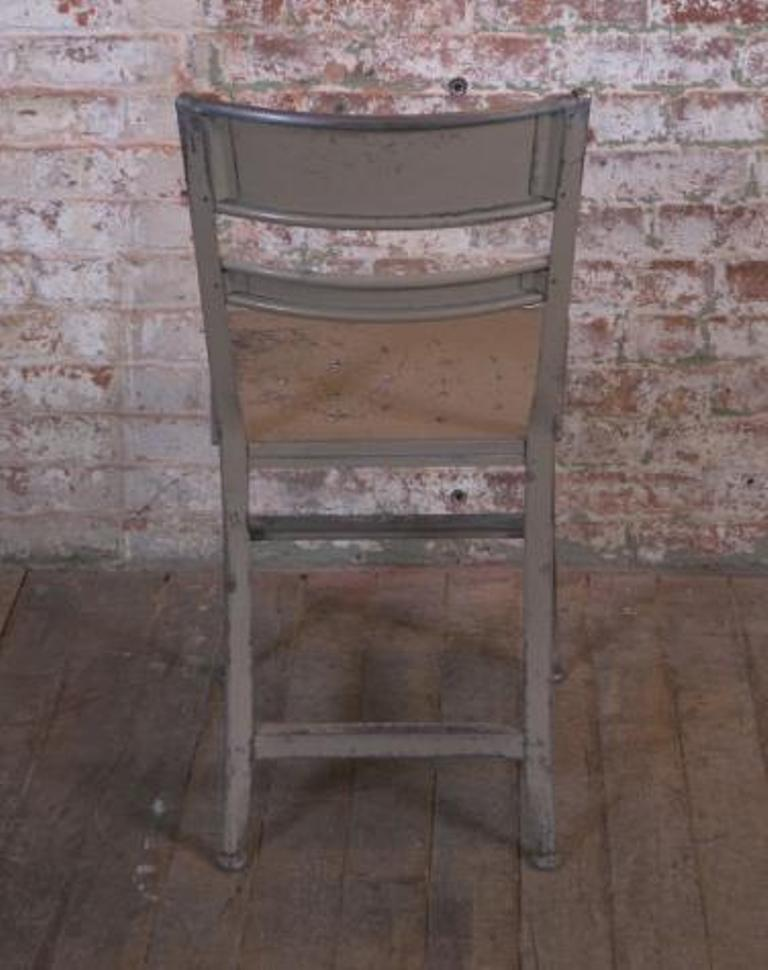 vintage industrial rustic toledo metal dining cafe side chairs 3