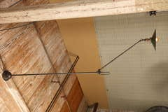 Vintage Industrial, O. C. White Ceiling Lamp at 1stdibs