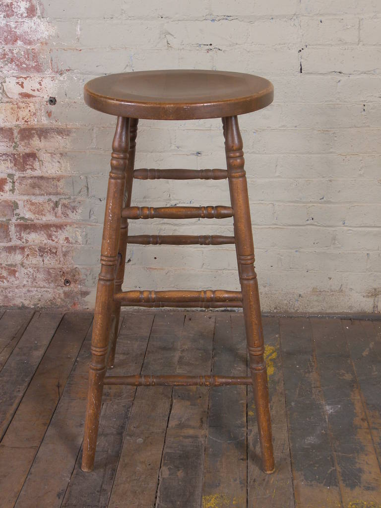 Vintage Wooden Bar Stool For Sale at 1stdibs : 1006224l from www.1stdibs.com size 768 x 1024 jpeg 96kB