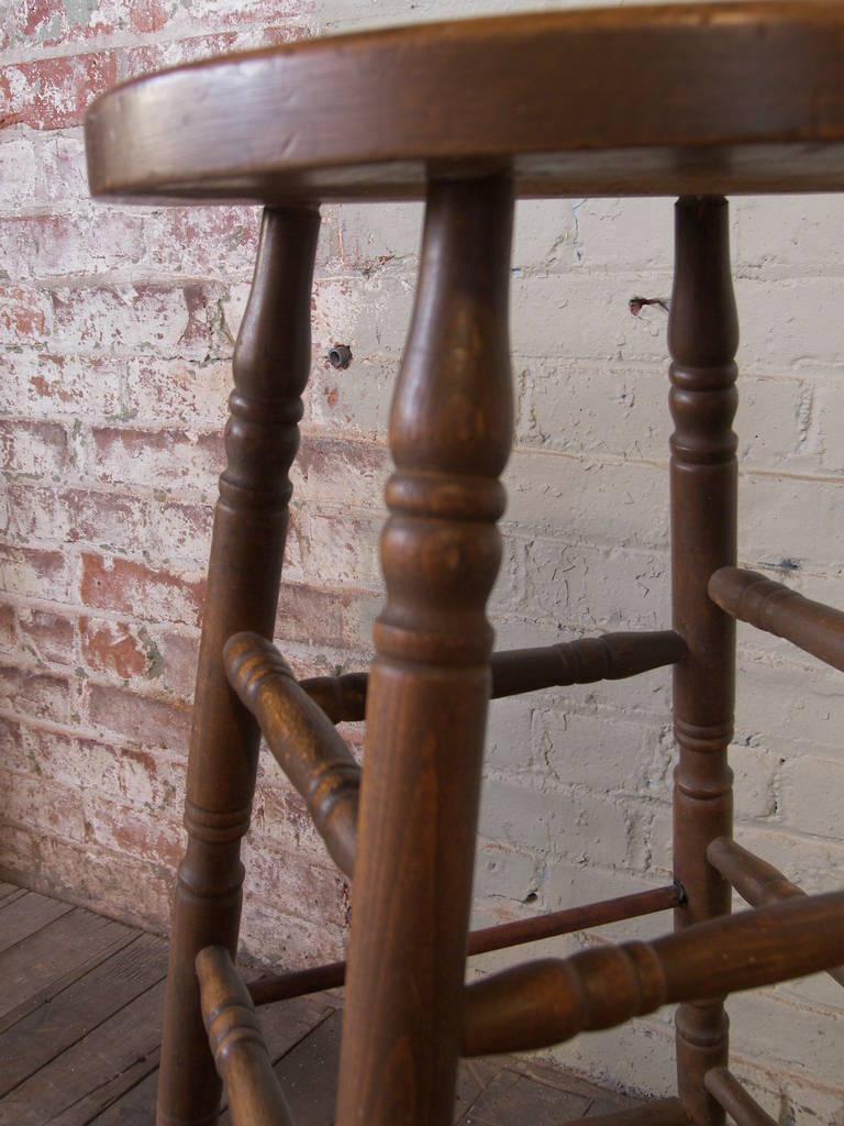 Vintage Wooden Bar Stool 7