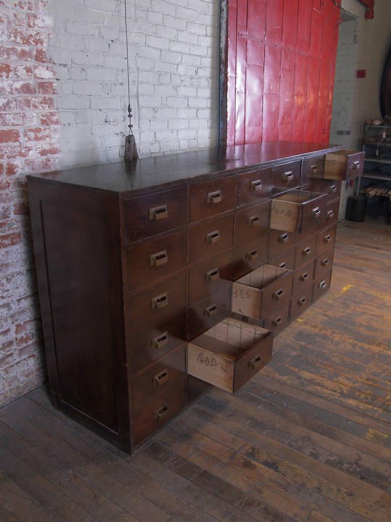 Vintage 36 Wooden Multi Drawer Cabinet At 1stdibs
