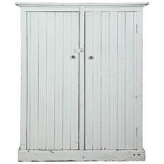 Country Style Painted Wood Distressed Cupboard Cabinet Storage Unit.