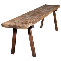 Antique Chestnut Bench