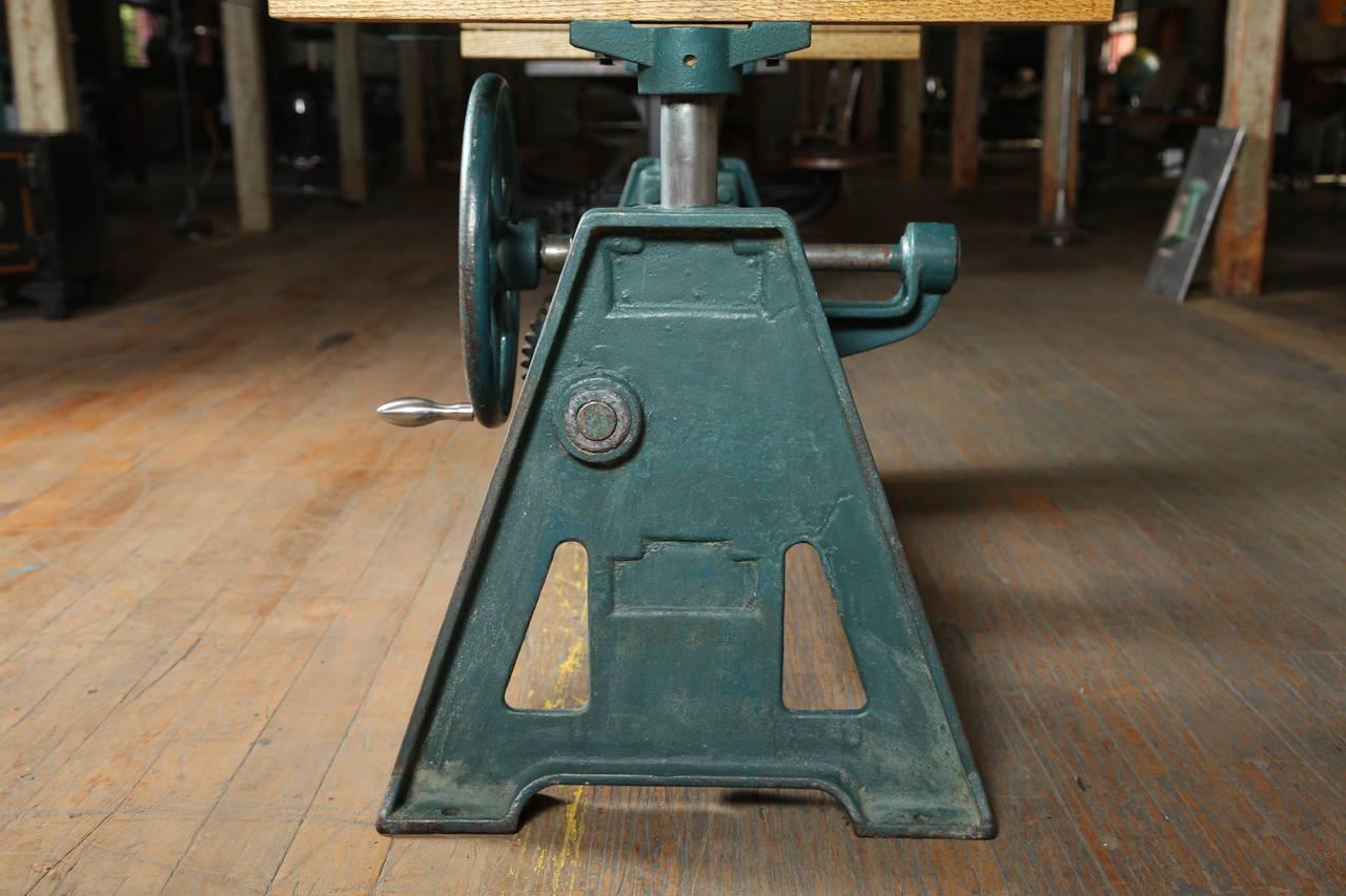 Conference Dining Table Vintage Industrial Adjustable