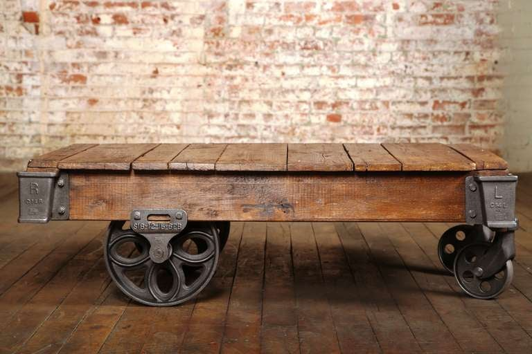 Genial Vintage Industrial, Lineberry Cart/Coffee Table. (Additional Similar  Available In Other Sizes