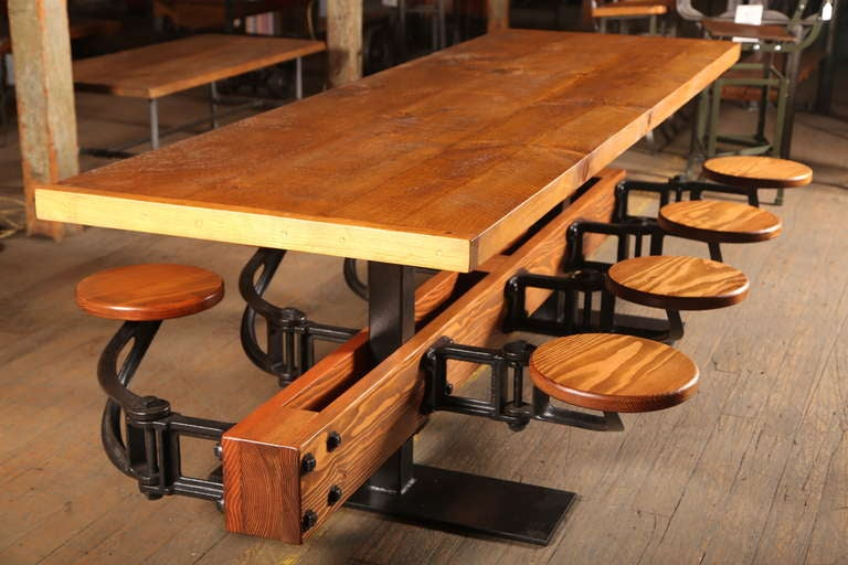 1695a8c5b1b84 American Dining Table Vintage Industrial Cast Iron