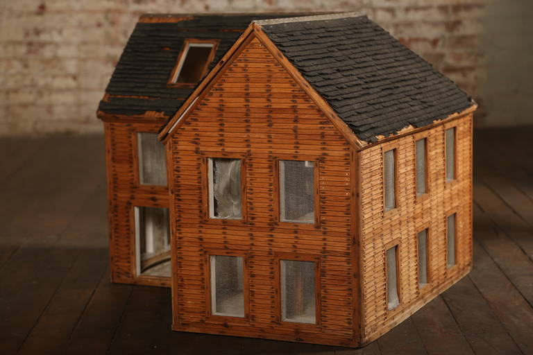 Vintage Wooden Doll House Wood Architectural Model At 1stdibs