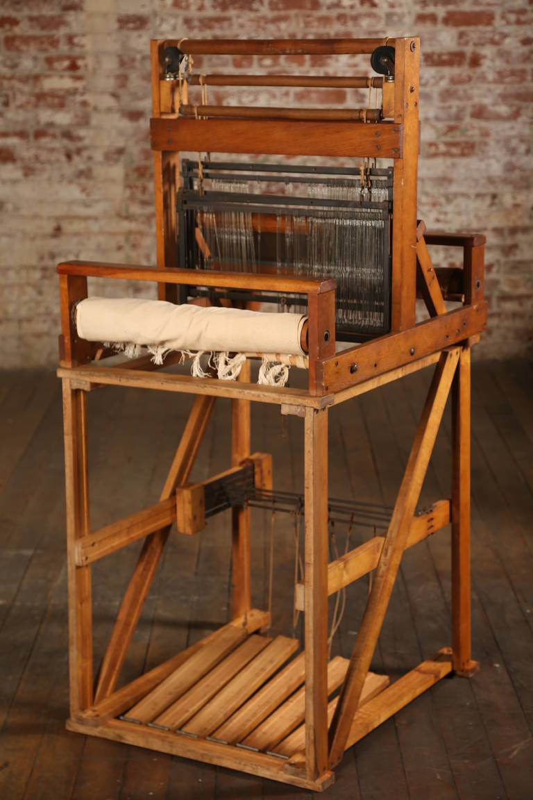 Vintage wooden loom at 1stdibs for H furniture loom chair
