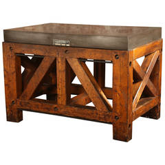 Vintage Industrial Factory Island or Table