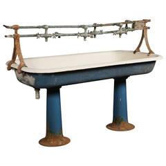 Vintage Industrial Double Pedestal Sink