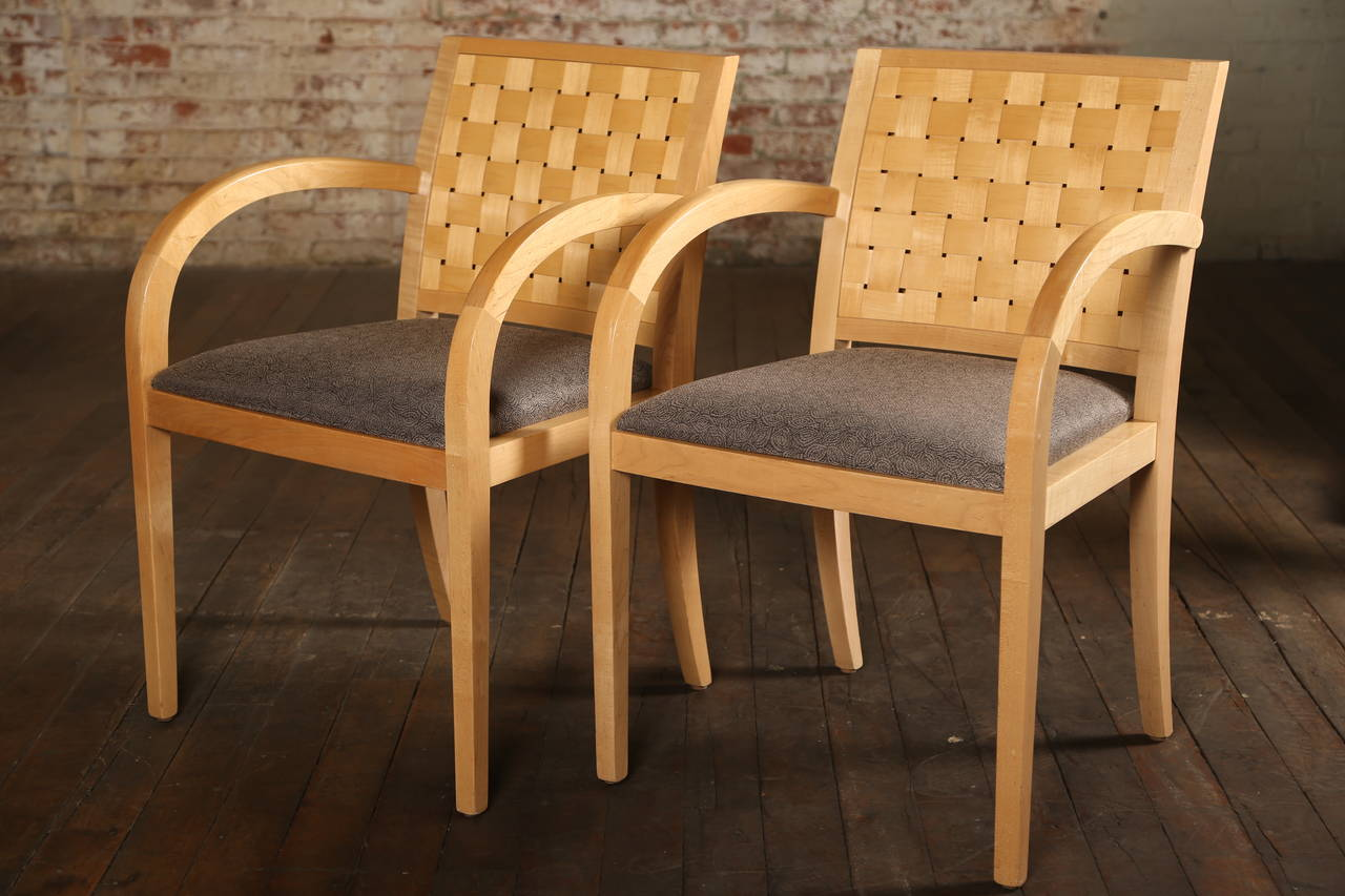 Vintage Wooden Woven Chair At 1stdibs