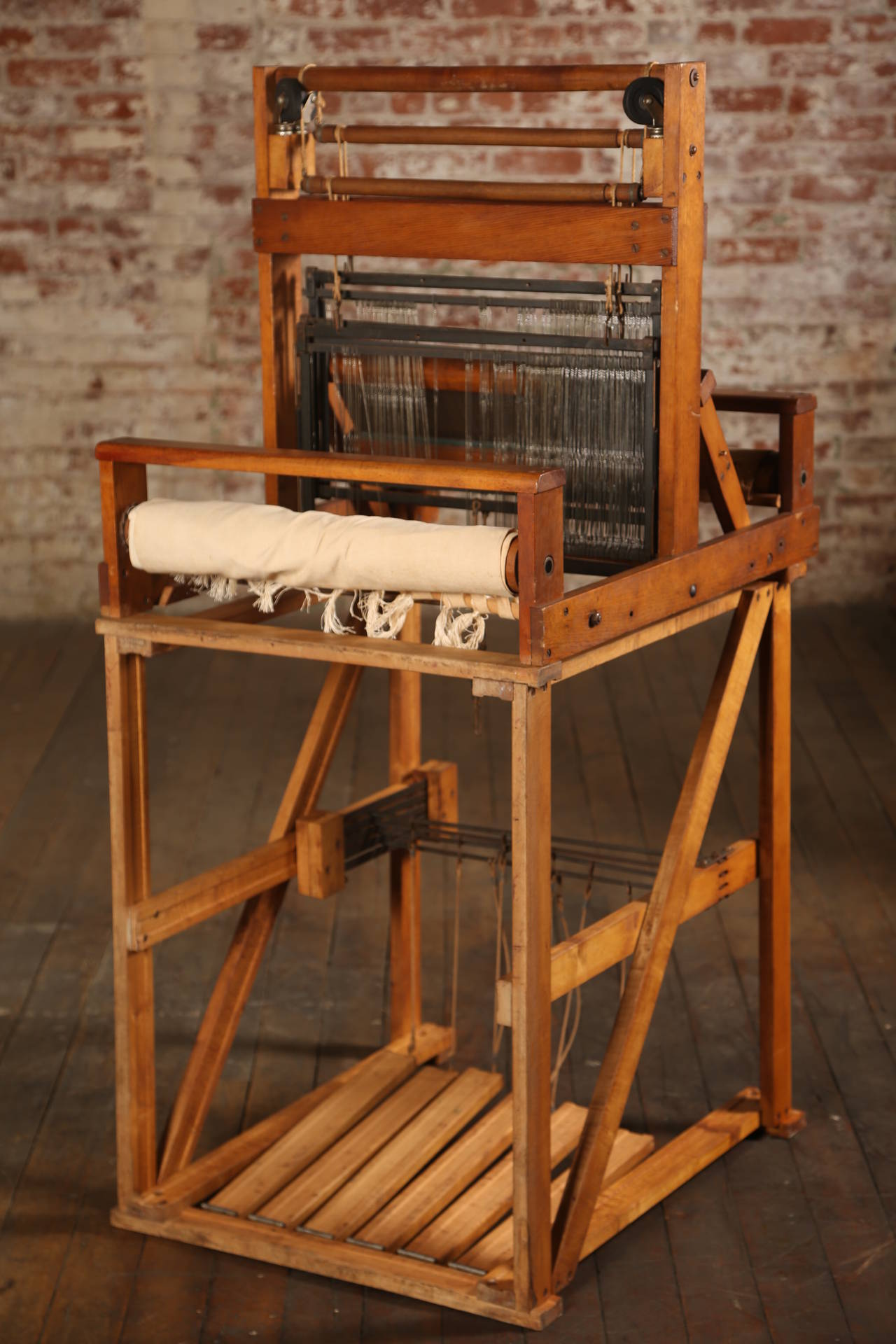 Vintage Wooden Loom For Sale Stdibs