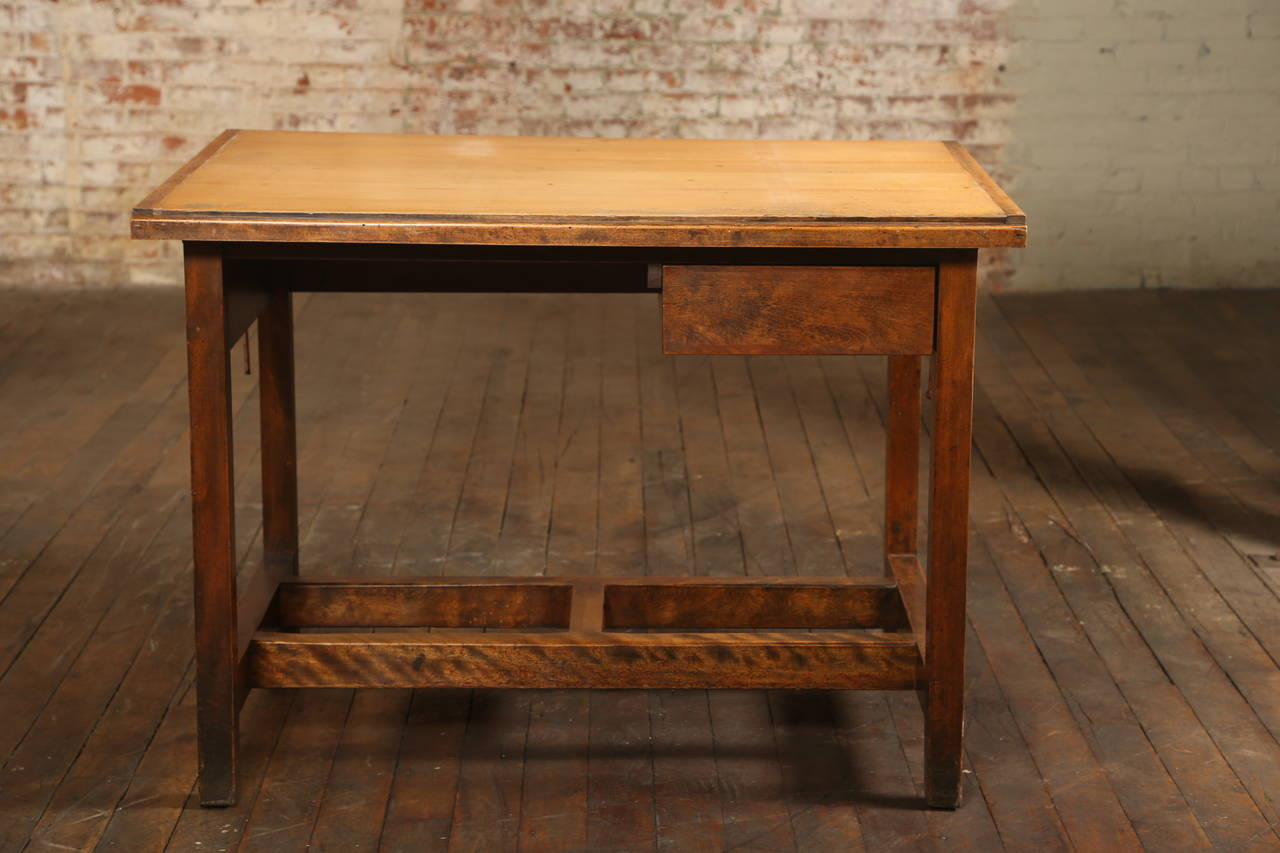 American Vintage Drafting Table Or Desk With Drawer For