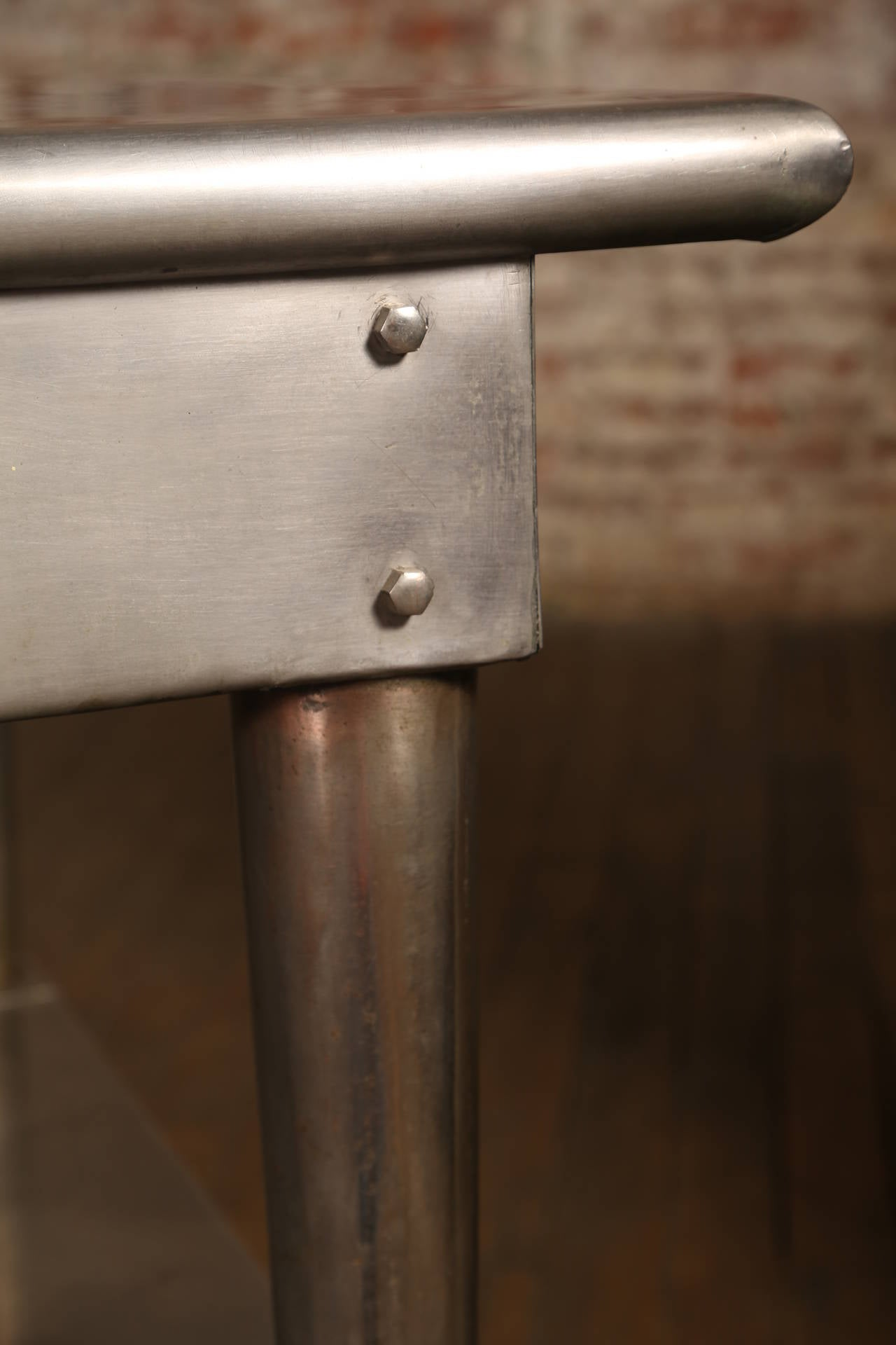 Vintage Stainless Steel Kitchen Table 3