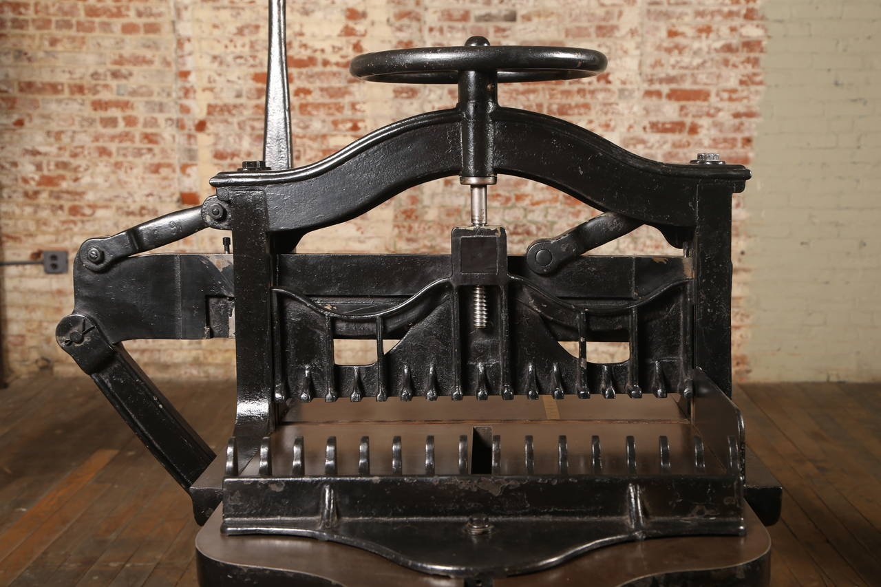 Antique Industrial Reliance Paper Cutter At 1stdibs
