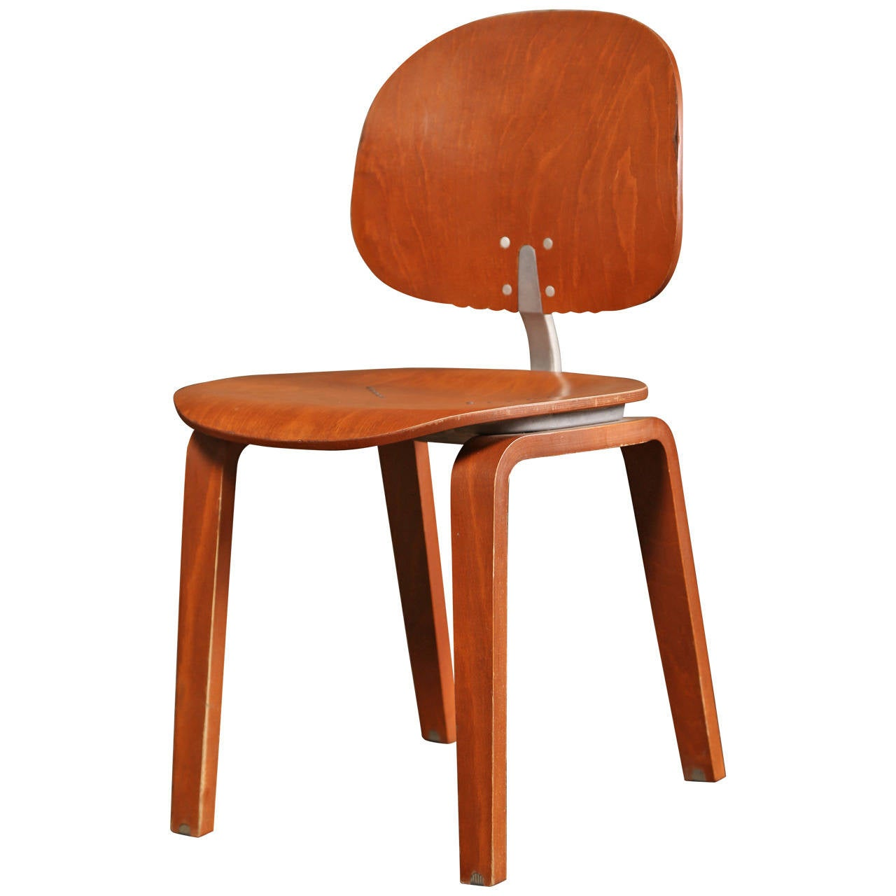Dining Chair, Mid Century Modern, Piretti Xylon Bent Plywood Seat For Sale