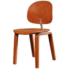 Dining Chair, Mid Century Modern, Piretti Xylon Bent Plywood Seat