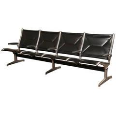 Original, Vintage, Four-Seat Sling Tandem Bench