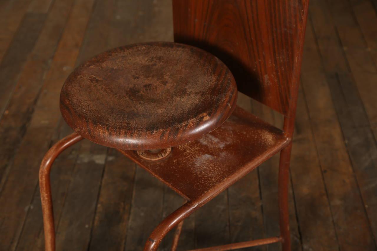 Original, Vintage Adjustable Medical Stool or Chair 8