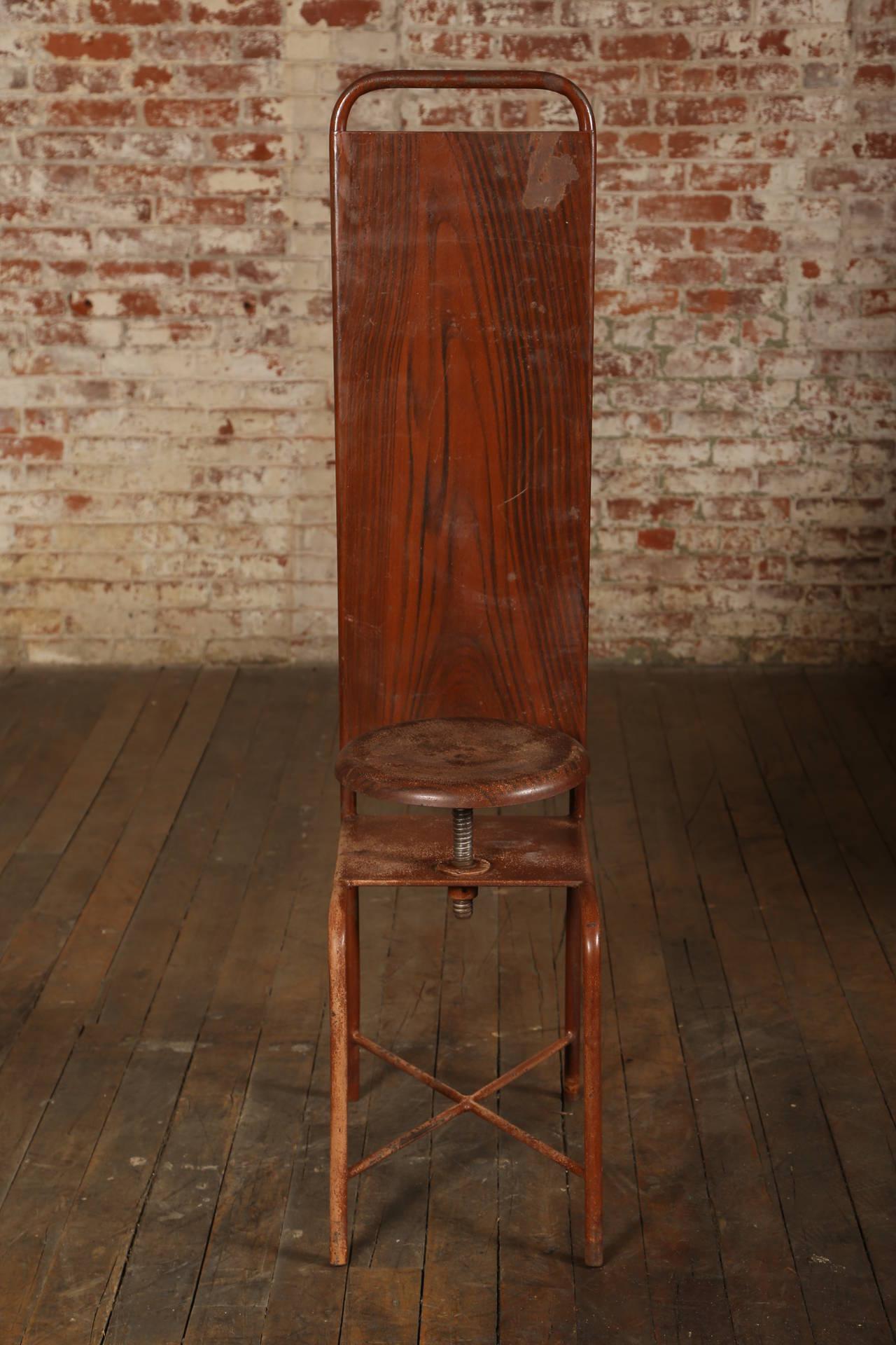 Original, Vintage Adjustable Medical Stool or Chair 3