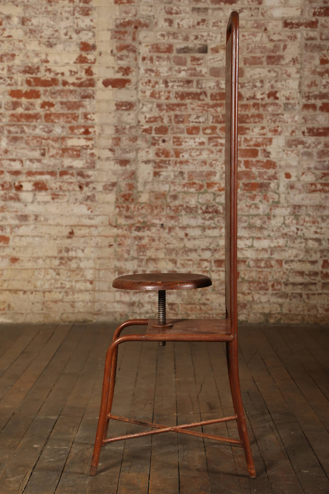 Original, Vintage Adjustable Medical Stool or Chair In Good Condition For Sale In Oakville, CT