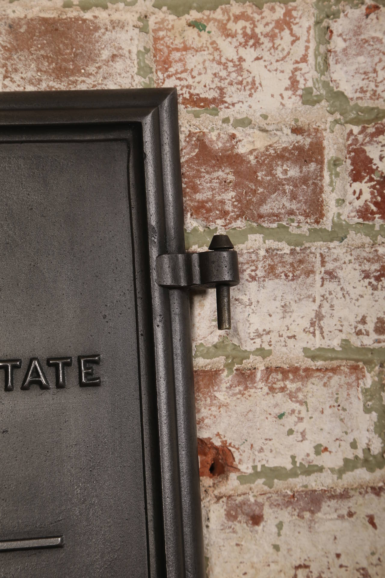 Vintage Industrial Fire Doors For Sale : Vintage industrial barstow and bay state furnace door at