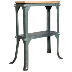 Vintage Industrial, Two Tier Stand, Made in USA